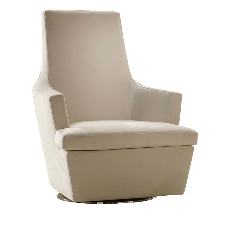 Diva Ivory Swivel Armchair For Sale at 1stdibs