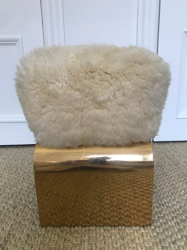 Polished Diva Petite Stool For Sale