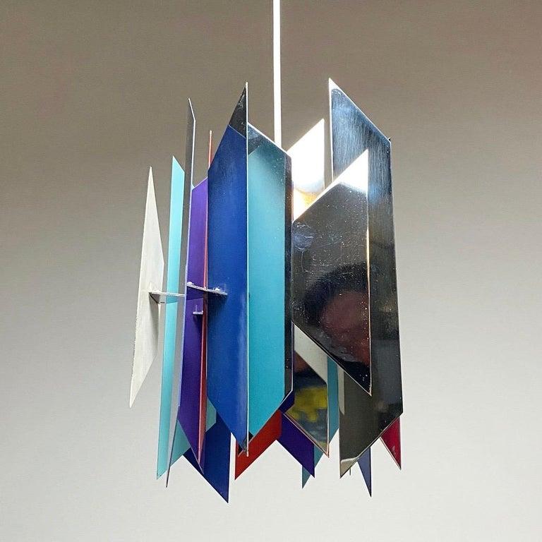 Divan 2 Ceiling Light by Simon Henningsen for Lyfa, Denmark, 1970 In Good Condition For Sale In Haderslev, DK