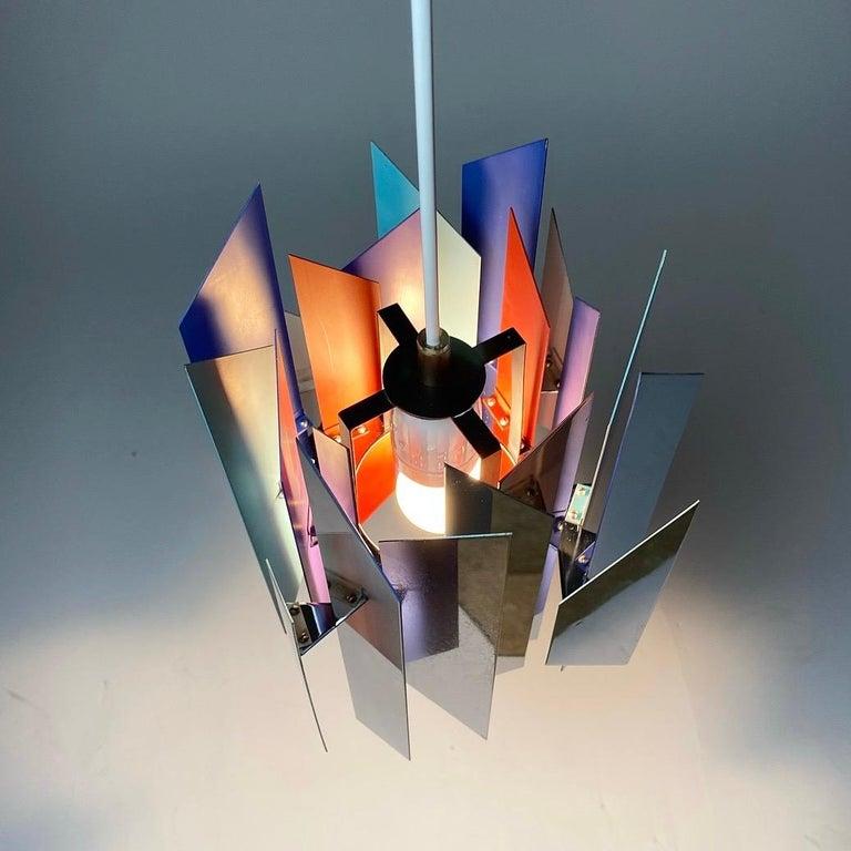 Chrome Divan 2 Ceiling Light by Simon Henningsen for Lyfa, Denmark, 1970 For Sale
