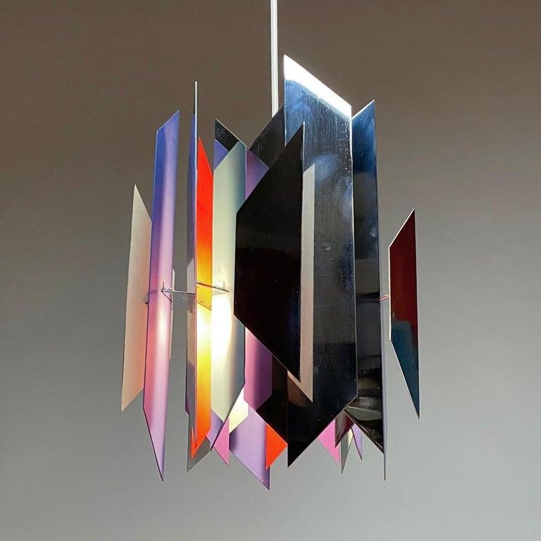 Divan 2 Ceiling Light by Simon Henningsen for Lyfa, Denmark, 1970 For Sale 1