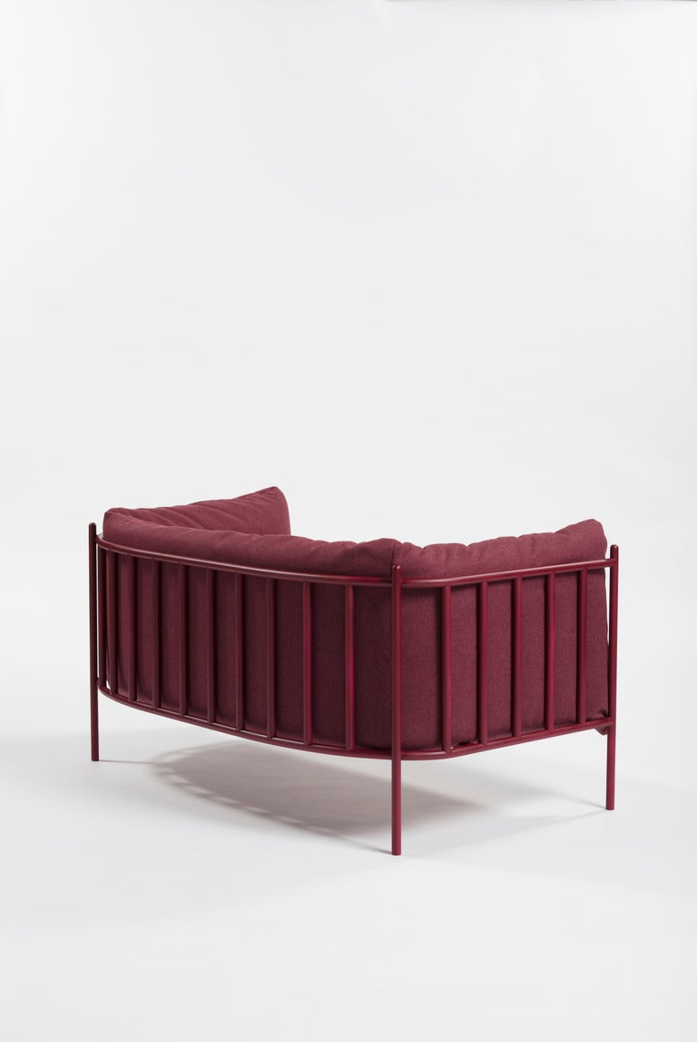Divanetto Loggia Upholstered in Velvet by Debonademeo for Medulum In New Condition For Sale In Meolo, Venezia