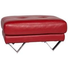 Divanotti Leather Stool Red Stool