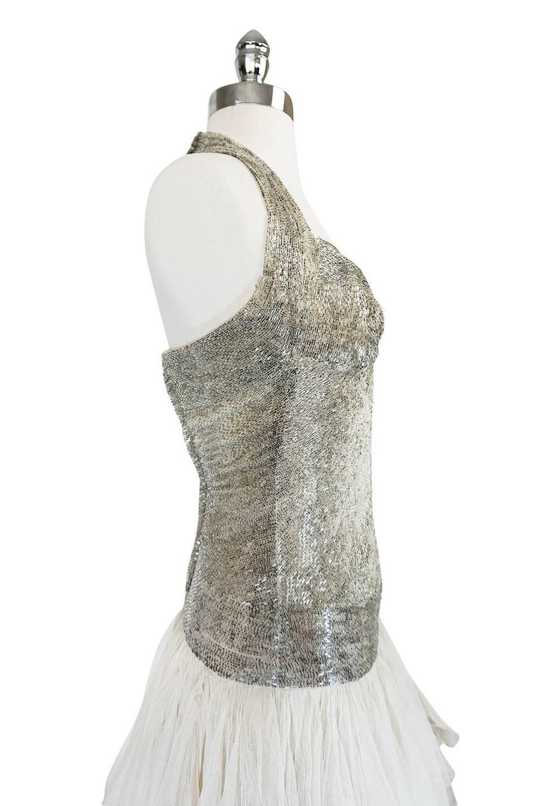 Divine Late 1920s Hand Beaded & Silk Tulle Princess Gown For Sale 1