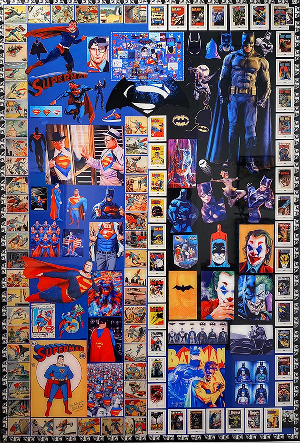 Superman and Batman by DJ Leon, Digital C Print, 44.5 x 30.5 in