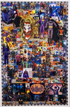 Batman and Friends, Dye Sublimation Print on Aluminum by DJ Leon, 45 x 32 in