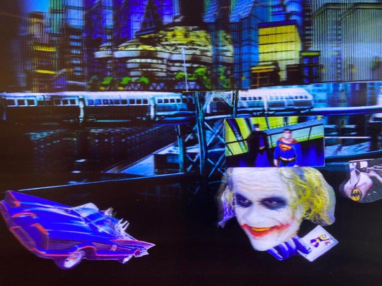 Batman in Gotham, 3D Backlit Digital Print by DJ Leon, 28 x 45 in For Sale 4