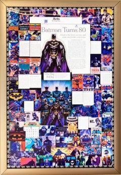 Batman's 80th Birthday, 3D Backlit Print by DJ Leon, 36 x 24 in
