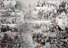 Protest, Black and White Lenticular Print by DJ Leon, 47 x 33 in