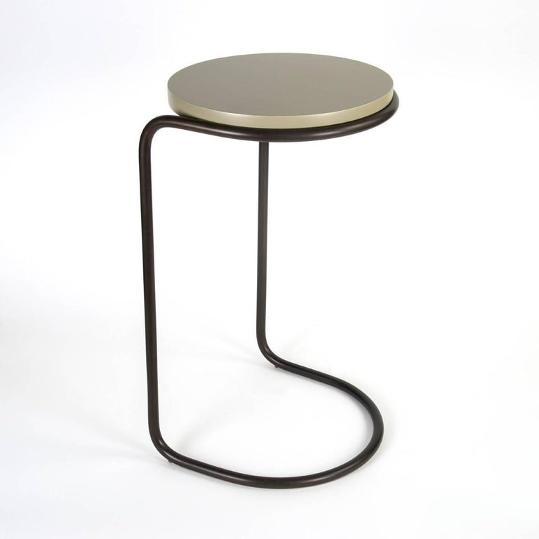 Django Mid Century Modern Side Table In Bronze For Sale At