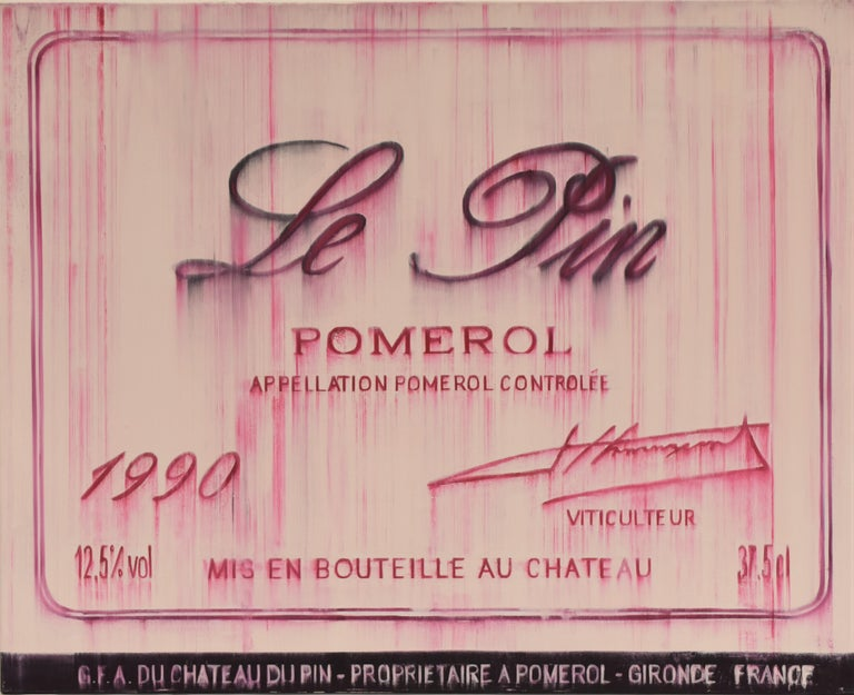 Chateau Le pin Pomerol 1990 oil on canvas - realist  - Painting by Djawid Borower
