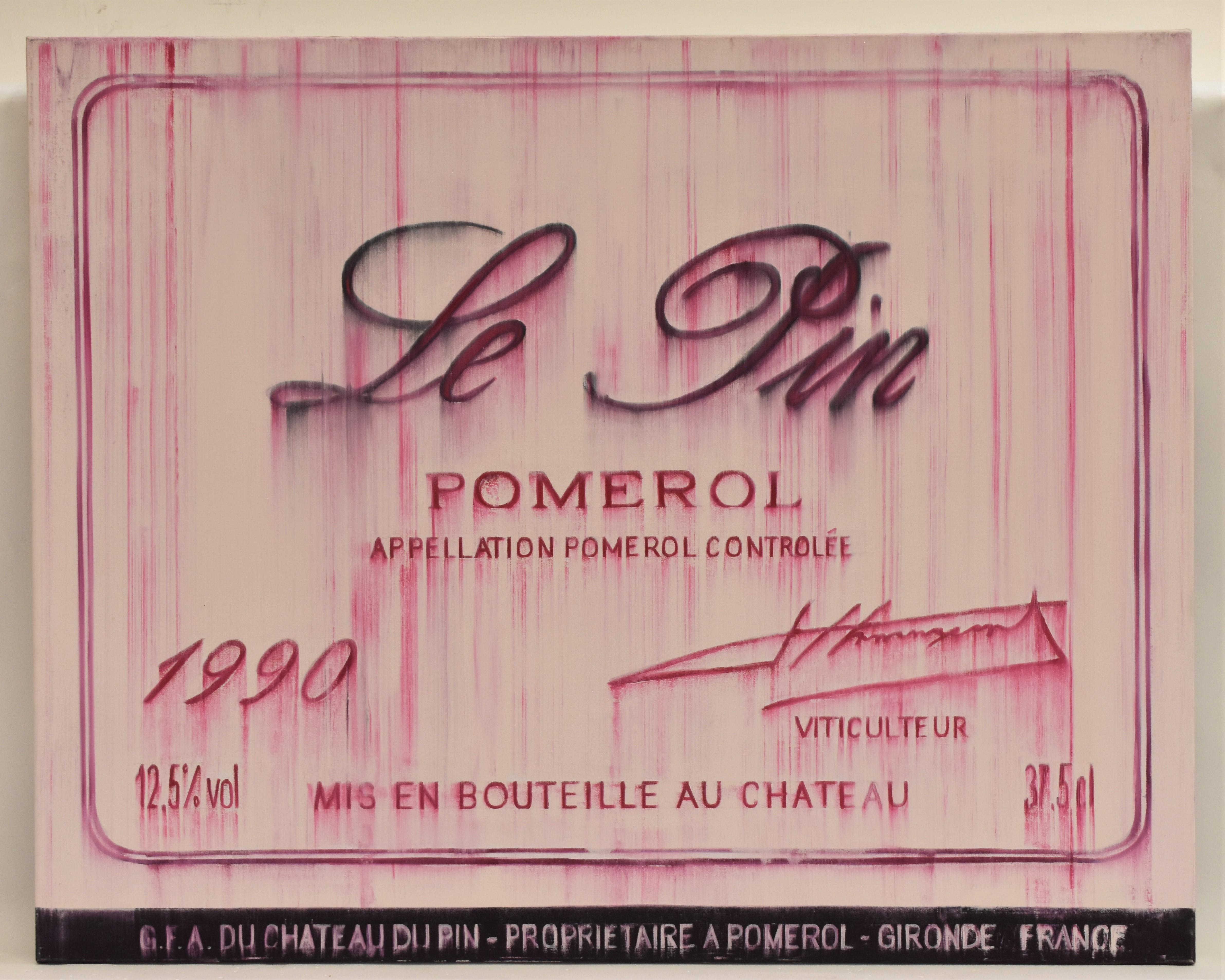 Chateau Le pin Pomerol 1990 oil on canvas - realist