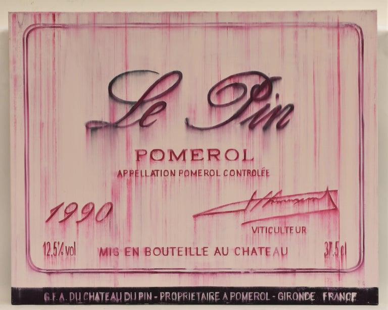 Djawid Borower Figurative Painting - Chateau Le pin Pomerol 1990 oil on canvas - realist
