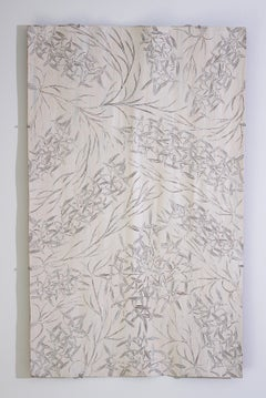 Australian Aboriginal bark painting medium size natural ochres, contemporary art