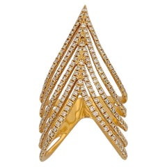Djula 18 Karat Rose Gold .92 Carat Chevron Diamond Ring