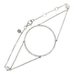 Djula Grand Cercle 18 Karat White Gold and Diamonds Bracelet