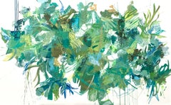 Verde Jardin, Abstract Painting