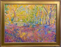Fractals Quaver Beyond the Meadow, original 30x40 expressionist landscape