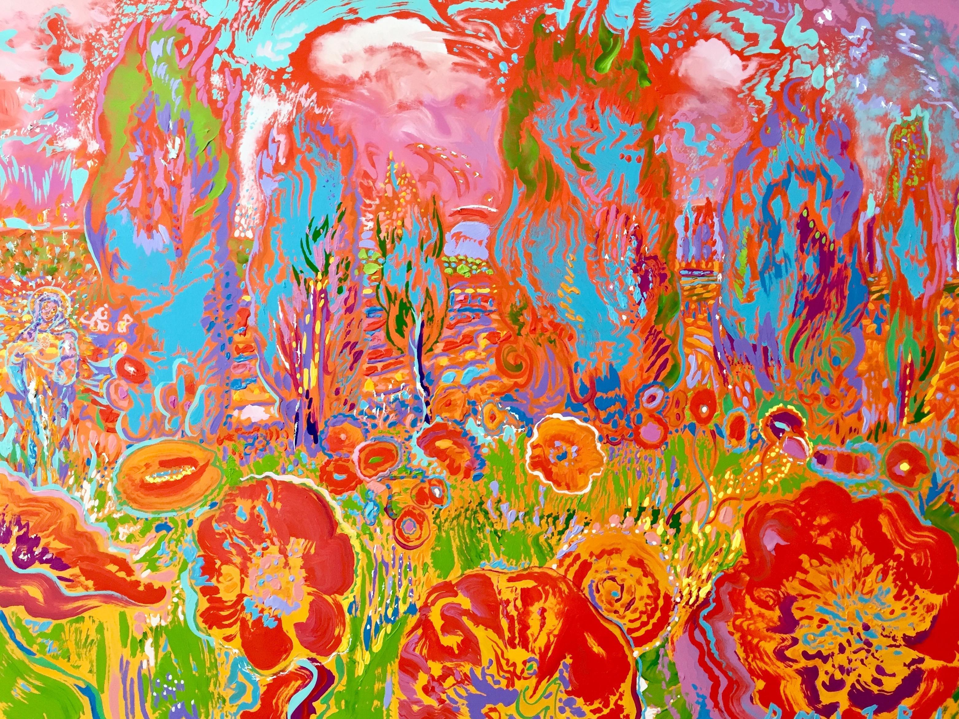 Visione Mistica, original 36x48 contemporary landscape