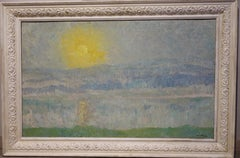 """Shining sunrise""  Oil cm. 100 x 62"