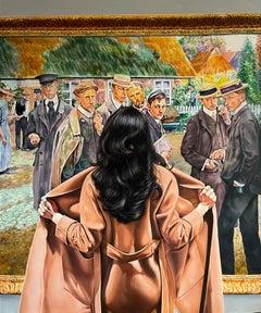 """""""Heart on a Sleeve"""" Oil on canvas painting 47"""" x 39"""" inch by Dmitriy Krestniy"""