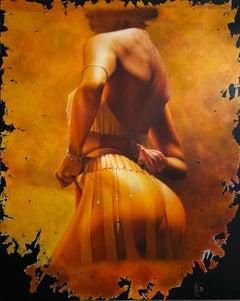 """""""Old Photo"""" Oil Painting 59"""" x 47"""" inch by Dmitriy Krestniy"""