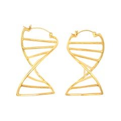 DNA Hoop Earrings Gold