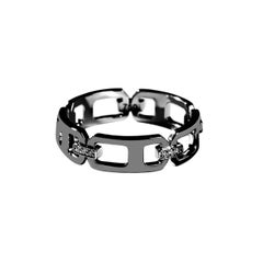 DNA Pave Diamond Band Ring in 18K Black Gold