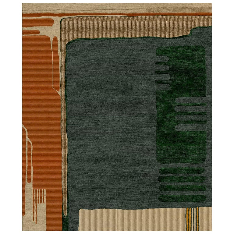 Do You Know Greta? Hand-Tufted Wool and Viscose Rug For Sale