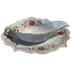 Italy Doccia Richard Ginori 18th Century Porcelain Sauce Terrin Floral Drawings
