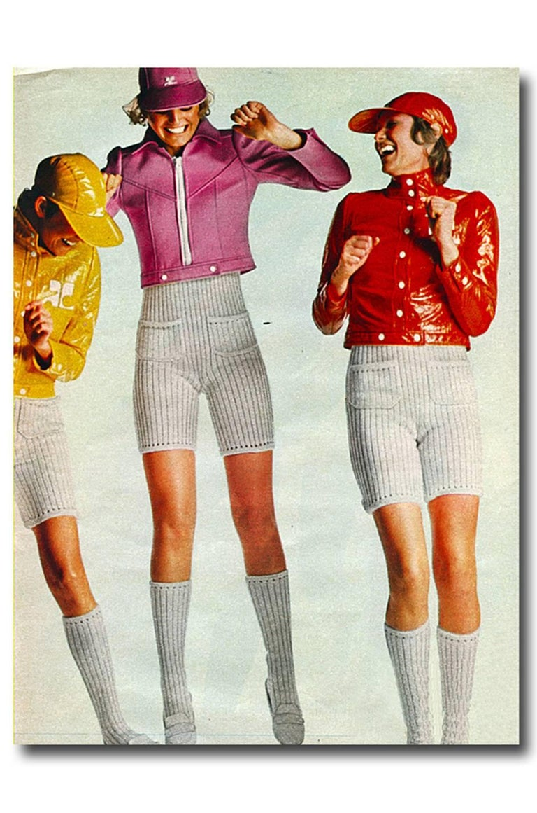 Andre Courreges Documented Vinyl Crop Jacket in Buff, 1971 - 1972  For Sale 5