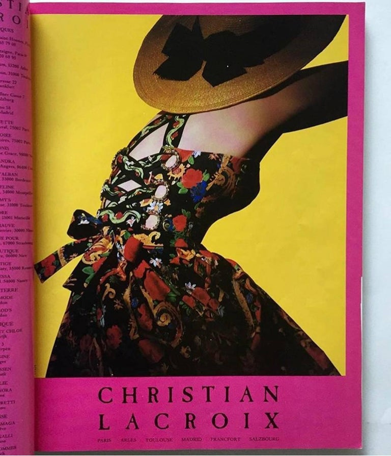 Documented Christian Lacroix Cotton & Rhinestone Print Dress, Spring-Summer 1992 For Sale 2