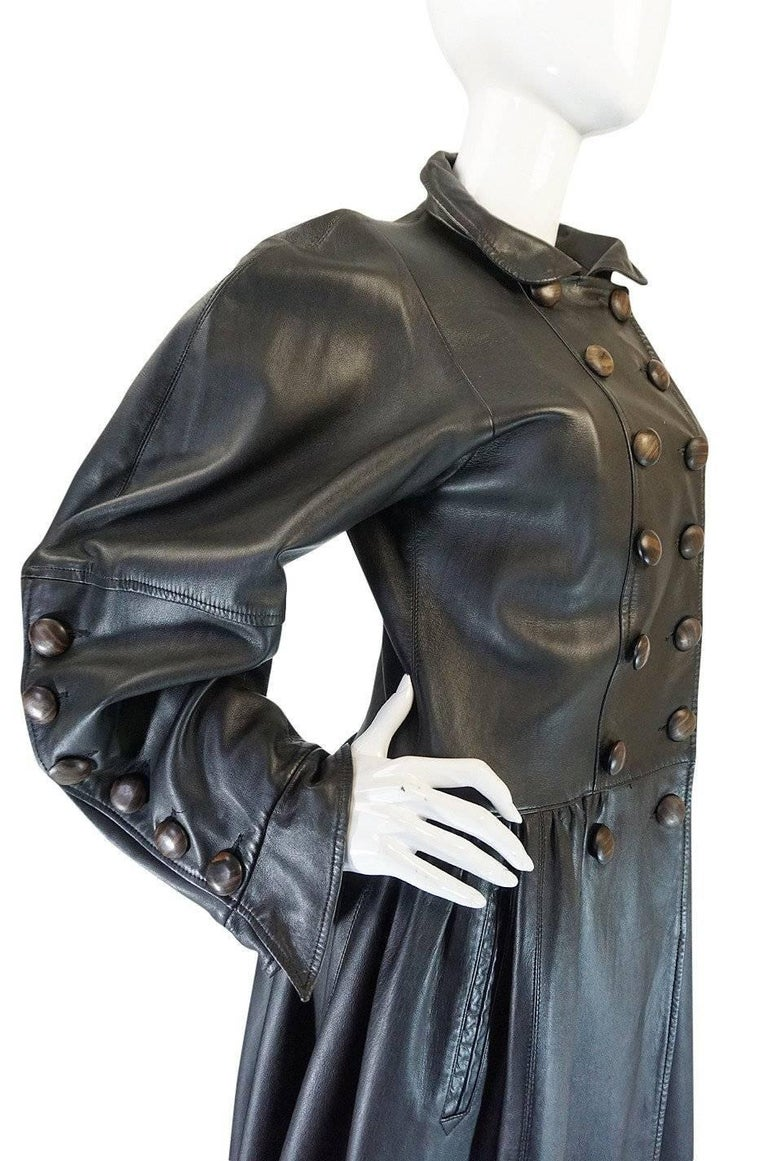 Yves Saint Laurent Documented Runway Leather Coat, Fall 1982  For Sale 1