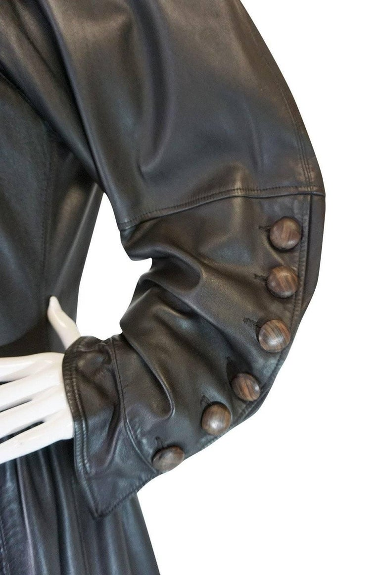 Yves Saint Laurent Documented Runway Leather Coat, Fall 1982  For Sale 3