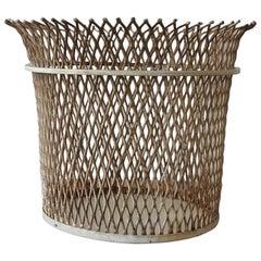 Documented Mathieu Matégot Wastepaper Basket, France, 1951
