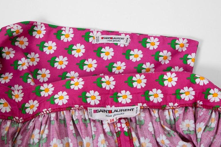 Documented Yves Saint Laurent Peasant Skirt & Stole, Spring-Summer 1977 For Sale 7