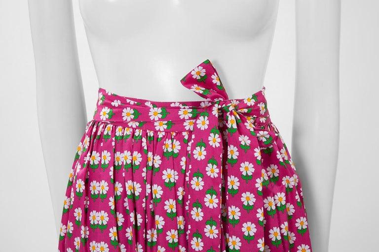 Documented Yves Saint Laurent Peasant Skirt & Stole, Spring-Summer 1977 For Sale 1