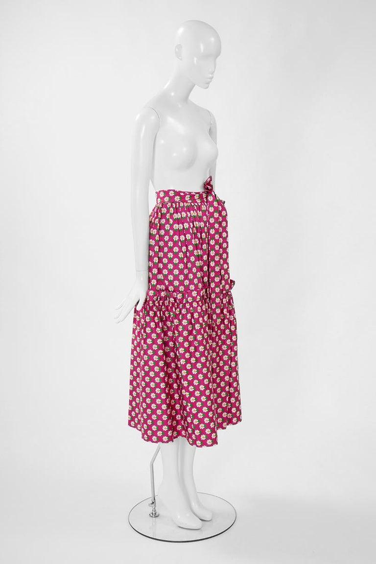 Documented Yves Saint Laurent Peasant Skirt & Stole, Spring-Summer 1977 For Sale 3