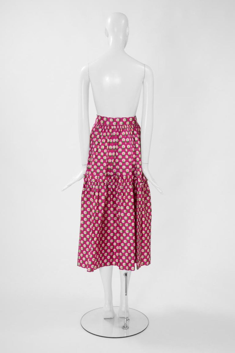 Documented Yves Saint Laurent Peasant Skirt & Stole, Spring-Summer 1977 For Sale 5