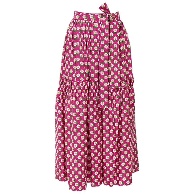 Documented Yves Saint Laurent Peasant Skirt & Stole, Spring-Summer 1977 For Sale