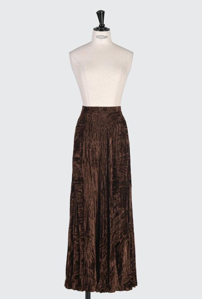 This is one of Yves Saint Laurent's iconic and well documented pleated evening skirts he did in the late 1970s and early 1980s. This Rive Gauche version would have been based on that Haute Couture skirt from the famous 1976-77 Russian Collection.