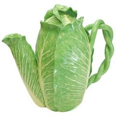 Dodie Thayer Lettuce Leaf Ware Au Bon Gout Porcelain Teapot