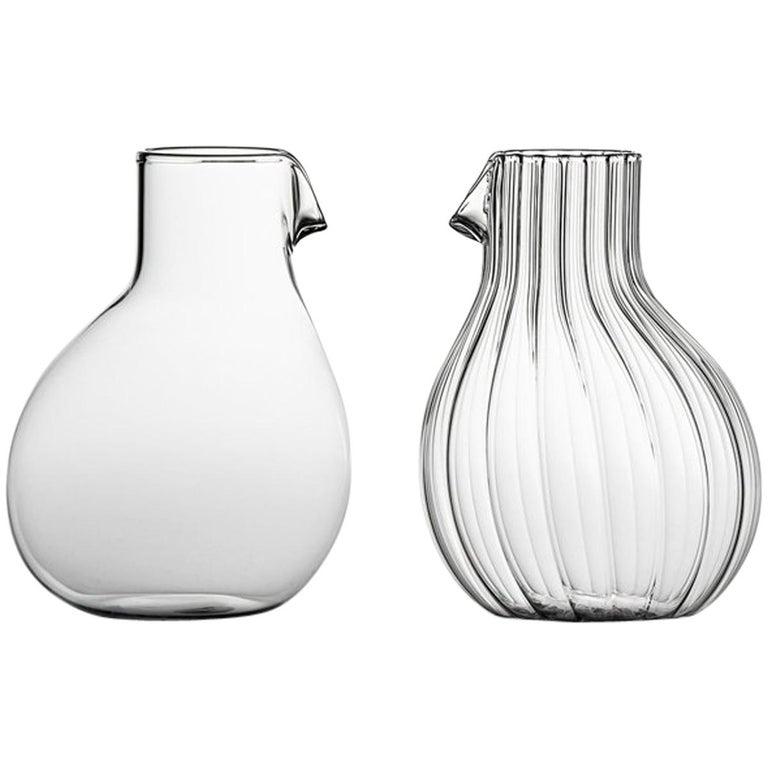 Dodò Low mundgeblasenen Glaskaraffe entworfen von Matteo Cibic 1
