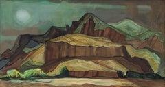 Spring Storm (Modernist Western Landscape)