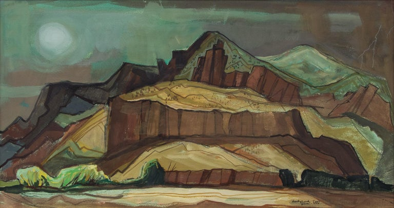 Spring Storm (Modernist Western Landscape) For Sale 1
