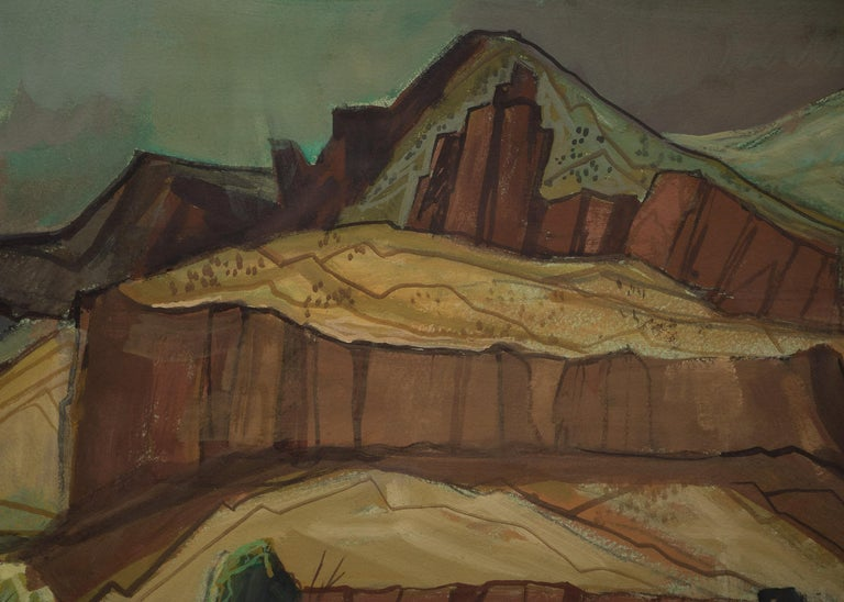 Spring Storm (Modernist Western Landscape) For Sale 2