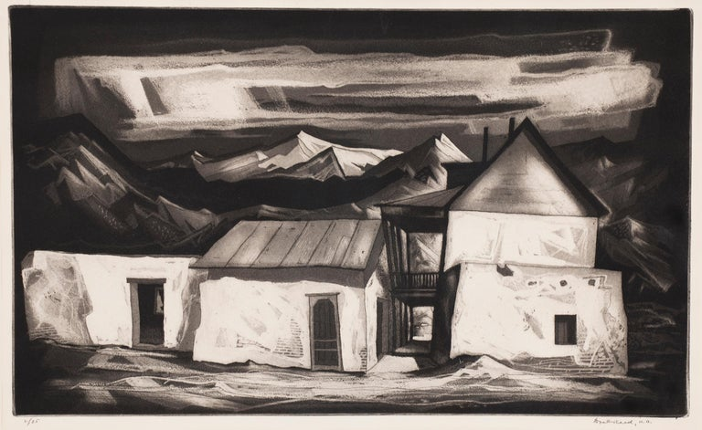 Old House at Questa (New Mexico) - Print by Doel Reed