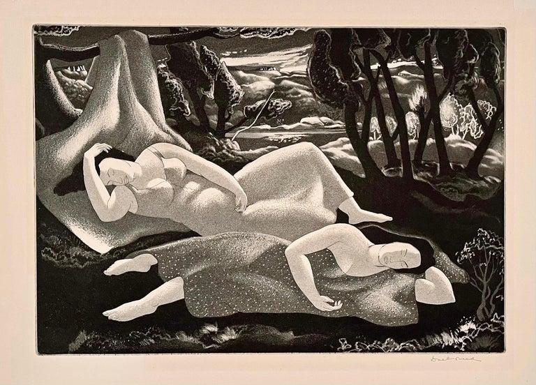 Doel Reed Figurative Print - UNTITLED (RESTING WOMEN; SLEEPING WOMEN)