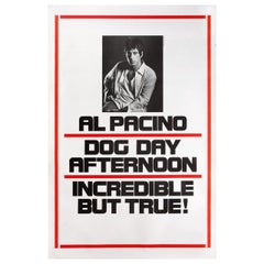 'Dog Day Afternoon' 1975 U.S. One Sheet Film Poster