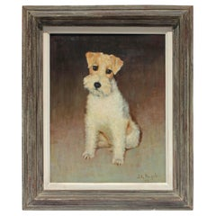 "Dog ""Fox Terrier"" Oil Painting"